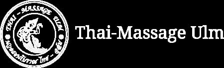 Logo der Thai-Massage Ulm, mit Text, hochaufgelöst in weiss