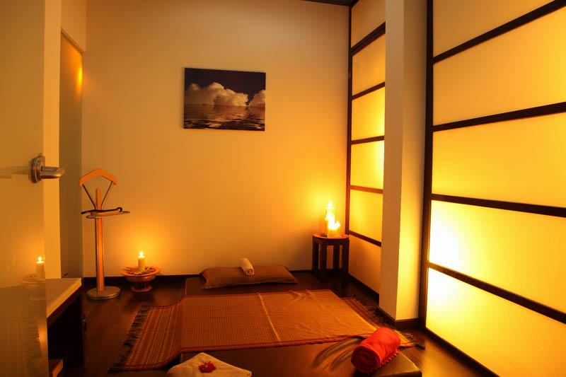 Wellness-Bereich für die Wellness- und Massagebehandlungen in der Praxis